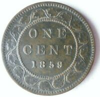 1859 CANADA CENT   RARE DATE   HIGH QUALITY/VALUE COIN   LOT
