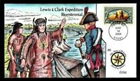 1 WONDER  COLLINS HAND PAINTED FDC W/ COVER 20 LEWIS & CLARK