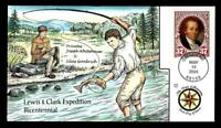 1 WONDER  COLLINS HAND PAINTED FDC W/ COVER 17 LEWIS & CLARK