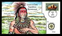 1 WONDER  COLLINS HAND PAINTED FDC W/ COVER 12 LEWIS & CLARK