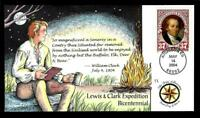 1 WONDER  COLLINS HAND PAINTED FDC W/ COVER 11 LEWIS & CLARK
