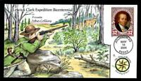 1 WONDER  COLLINS HAND PAINTED FDC W/ COVER 9 LEWIS & CLARK