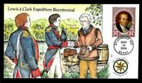 1 WONDER  COLLINS HAND PAINTED FDC W/ COVER 7 LEWIS & CLARK
