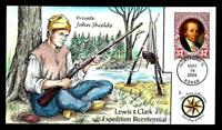 1 WONDER  COLLINS HAND PAINTED FDC W/ COVER 3 LEWIS & CLARK