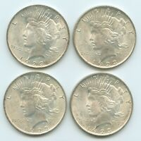 LOT OF 20 U.S. 1923 SILVER PEACE DOLLARS ALL HIGH GRADE COND