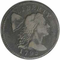 1795 LARGE CENT F UNCERTIFIED 1034