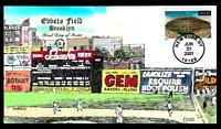 1 WONDER  COLLINS HAND PAINTED FDC W/ EBBETS BASEBALL FIELD