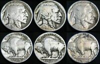 THREE COINS 1928-P 1928-D 1928-S BUFFALO NICKELS COMBINED S&H AVAILABLE HE114MX