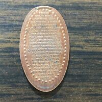 THE TEN COMMANDMENTS SMASHED PRESSED ELONGATED PENNY B5357
