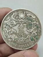 CHINESE ANTIQUES SILVER COINS 1911 QING XUANTONG ONE DOLLAR RATING COINS