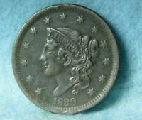 1839 CORONET HEAD LARGE CENT HIGH GRADE UNITED STATES COIN