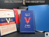 NOBLESPIRIT  } EXCITING WWII V MAIL LETTERS COVERS & STATIONERY COLL.