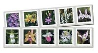 WILD ORCHIDS USPS FOREVER STAMPS STRIP OF 100 FIRST CLASS PO