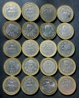 OLD CHILE COIN LOT   100 PESOS   HIGH QUALITY COINS   BI MET