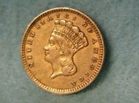 1856 INDIAN PRINCESS $1 DOLLAR UNITED STATES GOLD COIN BETTE