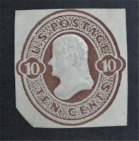 NYSTAMPS US CUT SQUARE STAMP  U187 MH    O22Y802