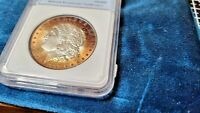 1889 NNC  1 TROY OUNCE MORGAN SILVER DOLLAR WITH A  TONING ON OUTSIDE EDGE