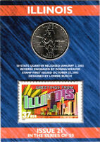ELF STATE QUARTER AND STAMP ILLINOIS  2003 D