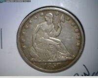1850 O SEATED LIBERTY SILVER HALF DOLLAR   EXTRA FINE