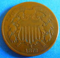 1872 KEY DATE TWO CENT PIECE VF  FINE 2777