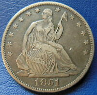 1851 O SEATED LIBERTY HALF DOLLAR NEW EXTRA FINE XF NEW ORLEANS US COIN 7326