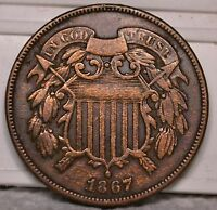 2C 1867 COIN RAW UNGRADED. SELLING OFF COLLECTION G2-2-14