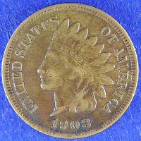 1908 S INDIAN HEAD CENT VF/XF CONDITION P9
