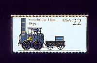 STEAM ENGINE TRAIN 1829 STOURBRIDGE LION LAPEL PIN M757