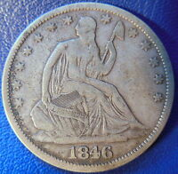 1846 O SEATED LIBERTY HALF DOLLAR FINE TO EXTRA FINE ORIGINAL COIN 10080