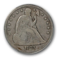 1872 S $1 LIBERTY SEATED DOLLAR PCGS VG 8 GOOD KEY DATE