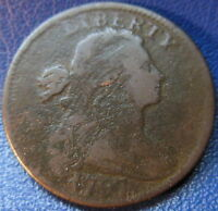 1797 DRAPED BUST LARGE CENT  GOOD VG US COIN CORROSION 10301