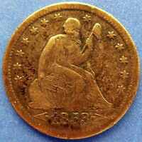 1853 O NEW ORLEANS SEATED LIBERTY QUARTER / EXTRA FINE 2147