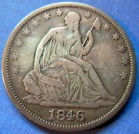 1846 O SEATED LIBERTY HALF DOLLAR FINE TO EXTRA FINE NEW ORLEANS COIN 5479