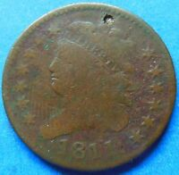 1811 CLASSIC HEAD HALF CENT KEY DATE ABOUT GOOD 3063