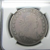 1800 DRAPED BUST SILVER DOLLAR NGC FINE DETAILS SCRATCHES