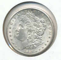 1887 S MORGAN SILVER DOLLAR CH.BU WOW COIN WOW DEAL DOM2108