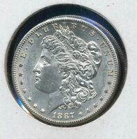 1887 S MORGAN SILVER DOLLAR COIN BU  PRICE DOM3283