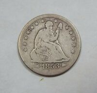 1853 O LIBERTY SEATED QUARTER WITH ARROWS & RAYS GOOD SILVER 25C