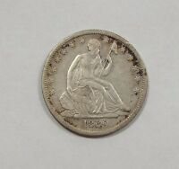 1869 S LIBERTY SEATED HALF DOLLAR EXTRA FINE SILVER 50C