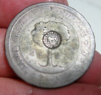 1849COSTA RICA 2 REALES  SILVER W/ COUNTERMARK LION    VERY