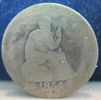 1854 O LIBERTY SEATED SILVER QUARTER AG DAMAGE             S 148