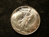 1941 D  SUPERB GEM BU WALKING LIBERTY HALF  NICE TZX