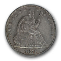 1871 CC LIBERTY SEATED HALF DOLLAR PCGS XF 45 EXTRA FINE TO AU CARSON CITY