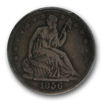 1856 S 50C LIBERTY SEATED HALF DOLLAR PCGS VF 20 FINE CERT2216 KEY DATE