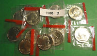101980 D UNC WASHINGTON QUARTERS IN ORIGINAL MINT CELLOPHANE WRAPPERS