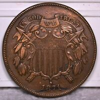 2C 1871 COIN RAW UNGRADED. SELLING OFF COLLECTION G2-19