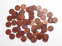 LOT OF 55 CANADIAN PENNIES MAPLE LEAF 1960 TO 1970