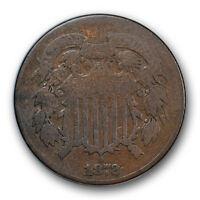1872 2C TWO CENT PIECE  GOOD VG KEY DATE US COIN LOW MINTAGE R143