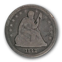 1842 O 25C SMALL DATE LIBERTY SEATED QUARTER GOOD G R222
