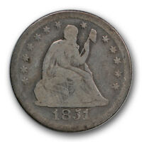 1851 O 25C LIBERTY SEATED QUARTER GOOD VG NEW ORLEANS R228